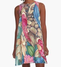 Koi Pond A-Line Dress