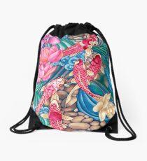 Koi Pond Drawstring Bag