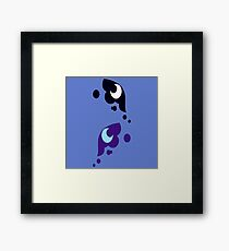 My little Pony - Luna + Nightmare Moon Cutie Mark V3 Framed Print