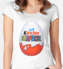 Kinder Surprise Chocolate Egg Women's Fitted Scoop T-Shirt