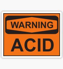 WARNING, ACID Sticker