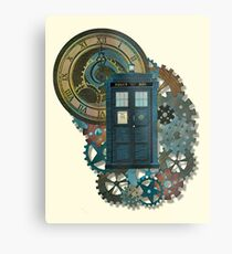 TARDIS Art Doctor Who  Metal Print