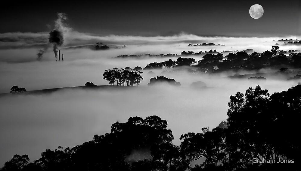 Misted Moonrise by Graham Jones