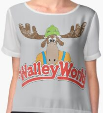 Walley World - Vintage Women's Chiffon Top