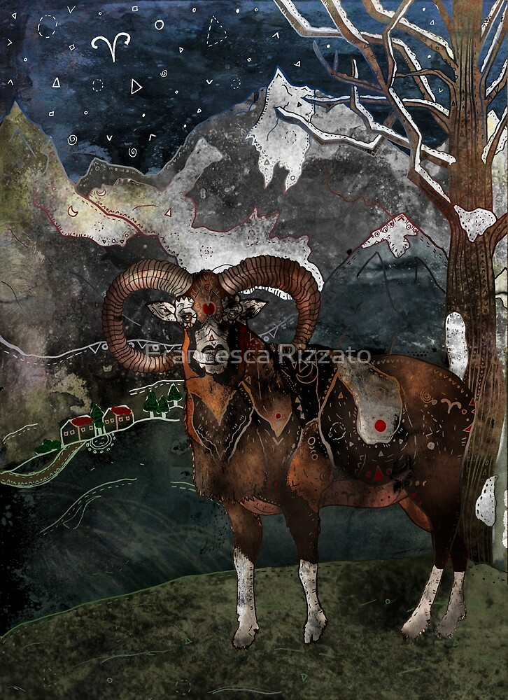 Aries the Ram by Francesca Rizzato