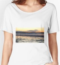 Pilgrim Posts at Sunset, Holy Island of Lindisfarne Women's Relaxed Fit T-Shirt