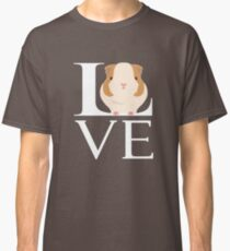 Love Guinea Pigs Funny Animal Lover Classic T-Shirt
