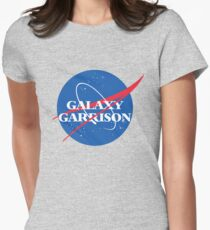 Voltron Galaxy Garrison NASA Parody Women's Fitted T-Shirt