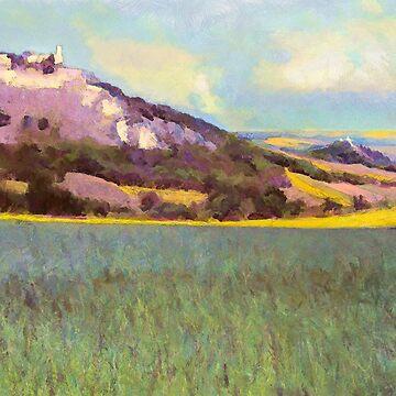 Falkenstein Landscape In Lower Austria by MenegaSabidussi