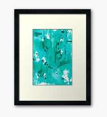 Green Ink Framed Print