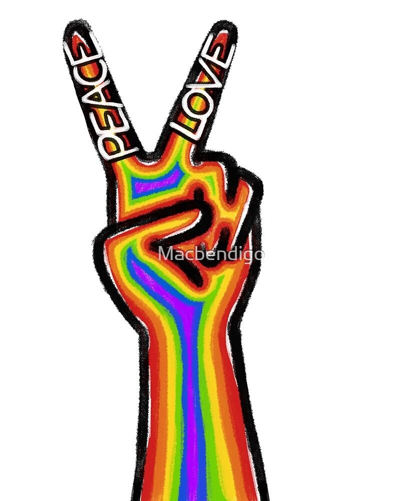 Peace and Love Hand by Macbendigo