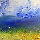 Clouds, mountains, grasslands by Elizabeth Kendall