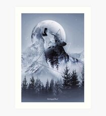 Howl with the Wolf Art Print