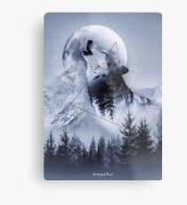 Howl with the Wolf Metal Print