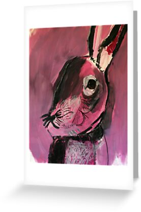 Pink Rabbit by Hayden Blomster by abraxisdesign