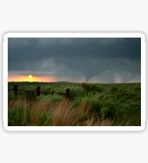 Woodward Oklahoma Tornado Sunset Sticker