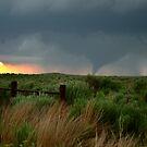 Woodward Oklahoma Tornado Sunset by TwisterKidMedia