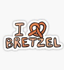 I love bretzel Sticker
