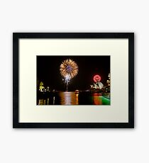 Sydney Australia 2008 New Years Eve Fireworks Framed Print