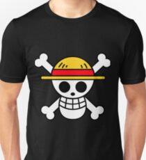 Luffy- Straw Hat Pirates Flag Unisex T-Shirt