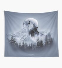 Howl with the Wolf Wall Tapestry