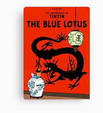 Tintin - The Blue Lotus Canvas Print
