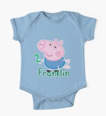 George pig - Franklin 2 years One Piece - Short Sleeve