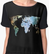 Space Continents Women's Chiffon Top