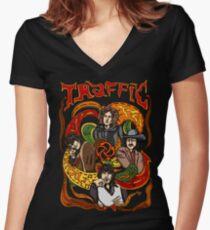 Traffic band, Steve Winwood Women's Fitted V-Neck T-Shirt