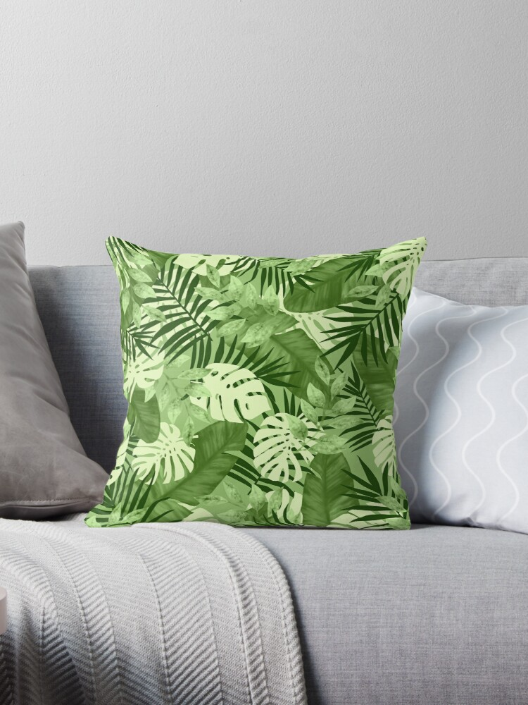 Green Tropical Leaves Pattern by oursunnycdays