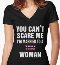 Married To a Thai woman quote and More  Women's Fitted V-Neck T-Shirt