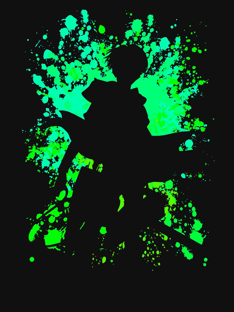 Levi Inspired Paint Splatter Anime Shirt by JaneFlame