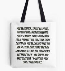 Aja/ Valentina- Linda Evangelista Tote Bag