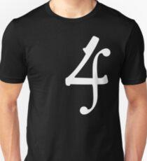 4 - White Unisex T-Shirt