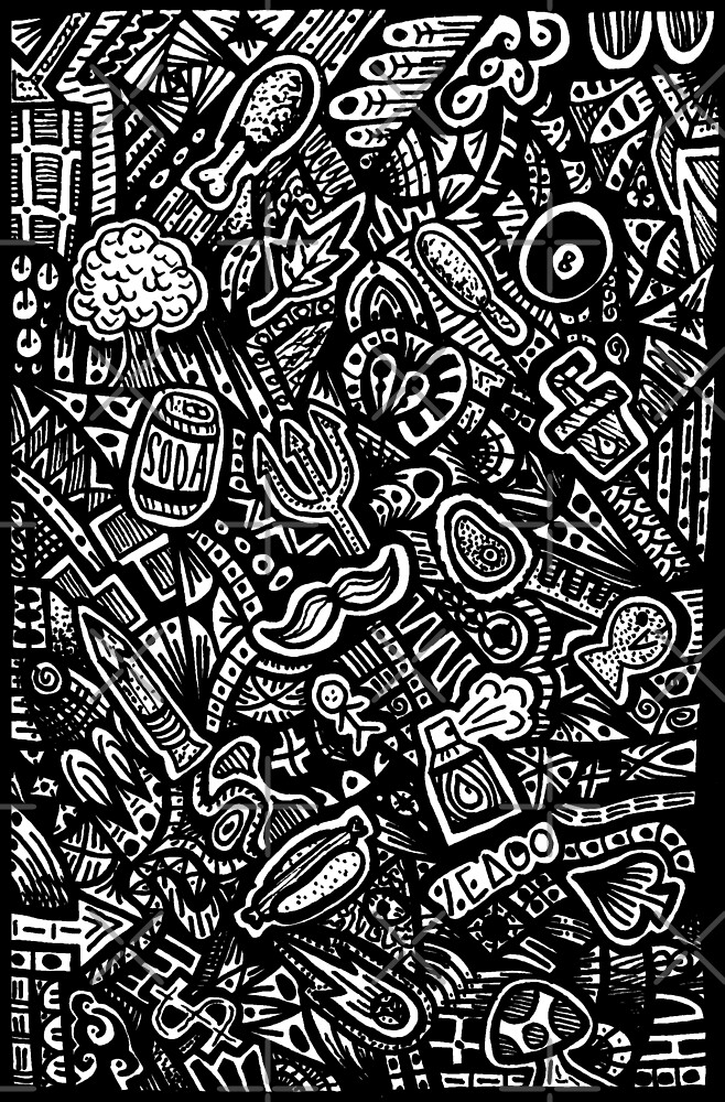 Zentangle with Doodles by bobblehead1337