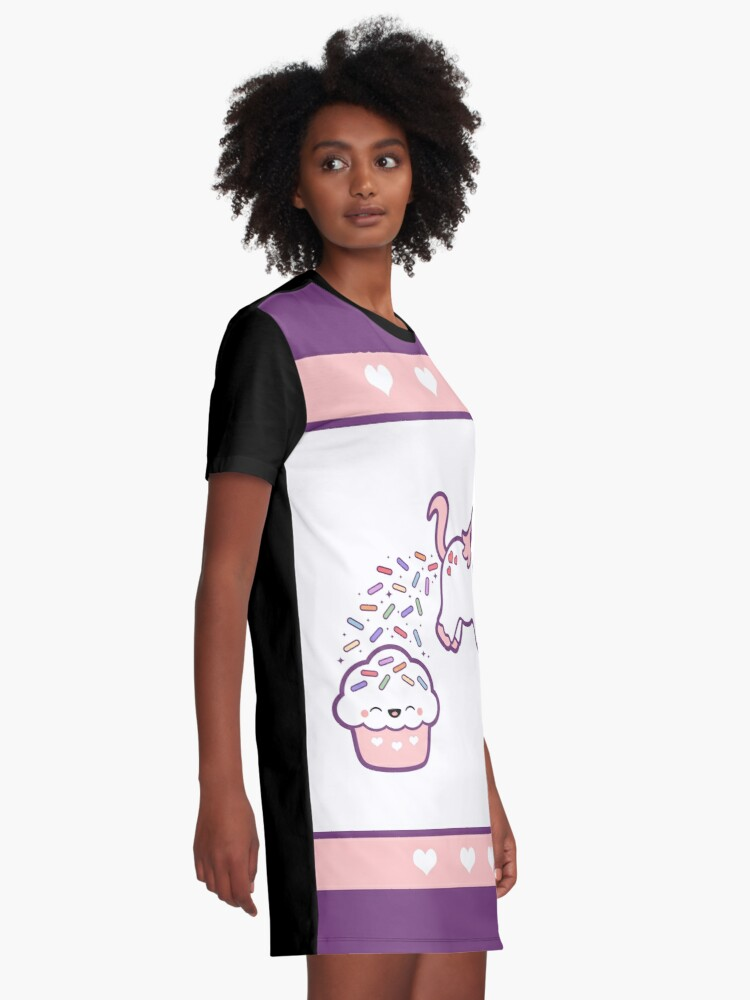 Alternate view of Sprinkle Poo  Graphic T-Shirt Dress