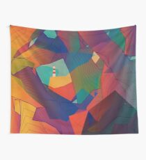 The Rocks by the Lighthouse Wall Tapestry
