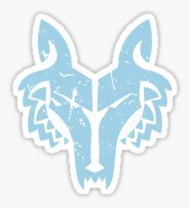 Blue Wolf Leader Sticker