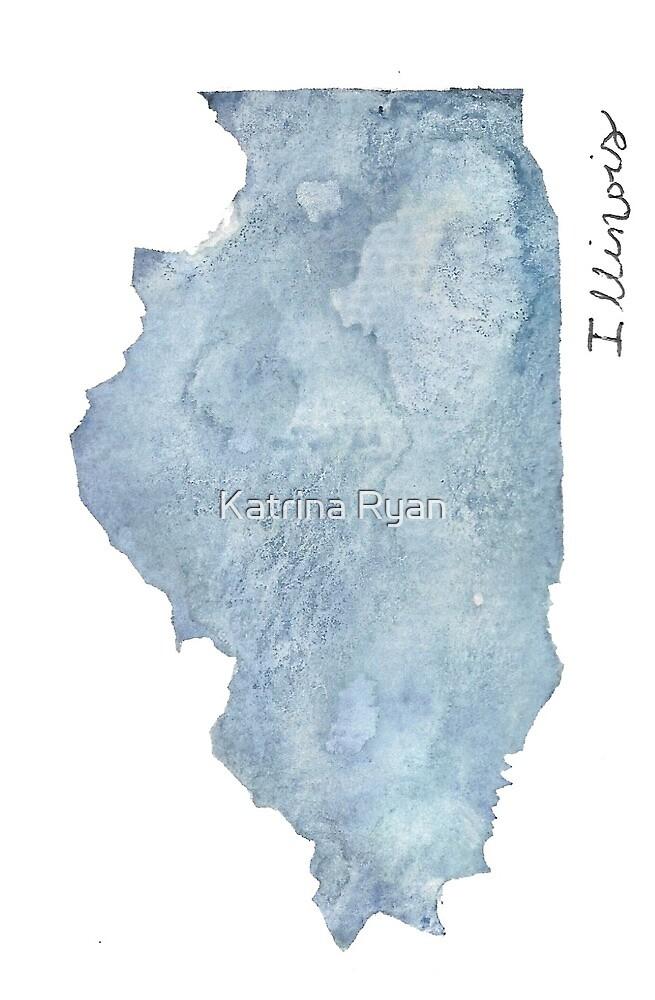 Illinois Watercolor by KatrinaRyanArt