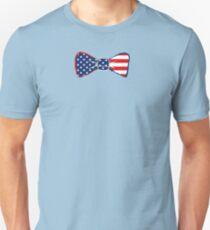 USA Patriotic Bow tie costume t shirt Unisex T-Shirt