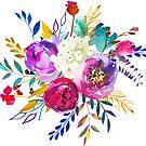 Romantischer Rosen-Blumen-Blumenstrauß # 1 von BekkaCampbell