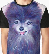 Purple Pomeranian Graphic T-Shirt