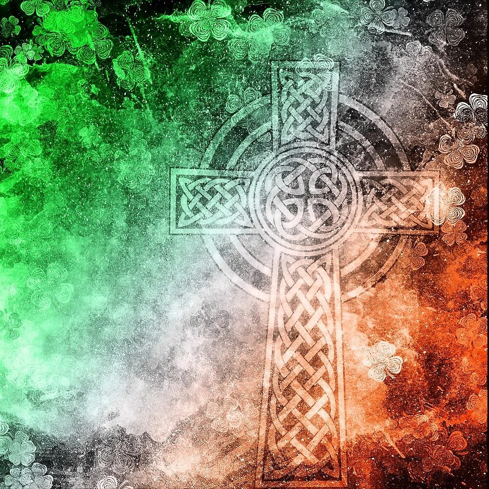 Distressed Irish Celtic Cross by heathendesigns