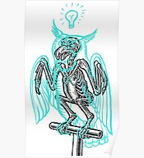 Skeleton of an Owl, with ghostly overlay Poster