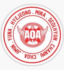 AOA member name red Sticker