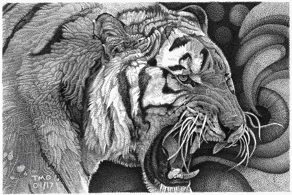 Tiger #1 by ToddMichaelArt