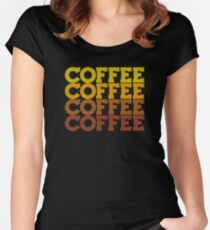 Coffee Stack - From Beans to Brew Women's Fitted Scoop T-Shirt