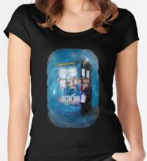 Blue Box Painting tee T-shirt / Hoodie Women's Fitted Scoop T-Shirt