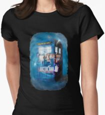 Blue Box Painting tee T-shirt / Hoodie Women's Fitted T-Shirt