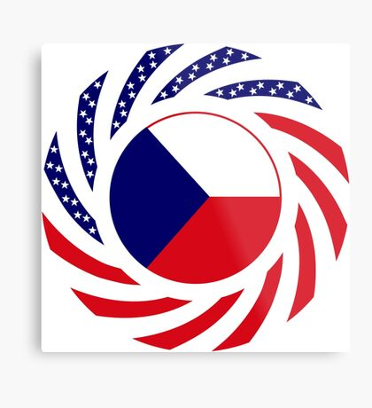 Czech American Multinational Patriot Flag Series Metal Print